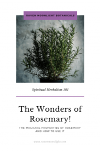 Save The Wonders of Rosemary article to Pinterest with this image